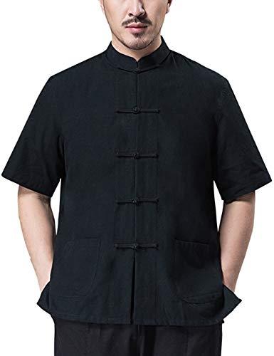Zhhlinyuan Lose Beiläufig Männer Chinesisch Traditionell Kung Fu Kostüm Tang-Anzug Hanfu Jahrgang Lange Ärmel Baumwolle Jacken
