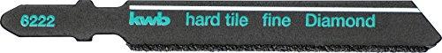 kwb Stichsäge-Blatt für Fliesen und Keramik - Diamant-bestreut, mit T-Schaft für viele handelsübliche Stichsägen, Made in Germany
