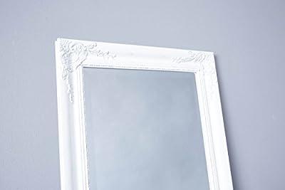 Standspiegel Spiegel Ankleidespiegel 170 x 45 cm weiß Antik Stil barock vintage