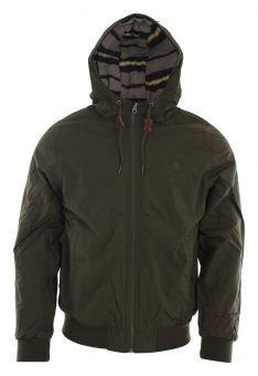 Element Herren warme Winterjacke Dulcey, gefüttert und wasserabweisend, kurz geschnittene College Jacke