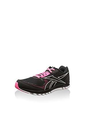 Reebok Women's Sublite Duo Rush Black,Gravel,Solar Pink and White Running Shoes - 4.5 Uk