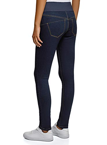 oodji Collection Donna Jeggings a Vita Alta con Cintura Elastica