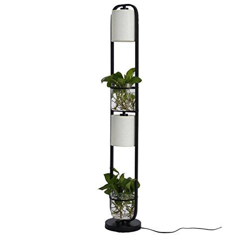 Moderne Glas Topf Schlafzimmer Wohnzimmer lesen vertikale Stehlampe, minimalistischen Home Design Metalltuch Kunst einzelne Stehleuchte (schwarz)