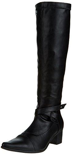 Initiale Souka, Bottes Classiques Femme Noir (Noir Stretch)