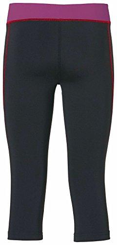 Erima pantalon 3/4 pour femme leggings feel vert Noir - Schwarz/Magenta