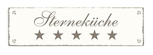 SCHILD Türschild « STERNEKÜCHE » Shabby Vintage Holzschild Dekoschild Dekoration Home Heim accessoires Küchen kochen