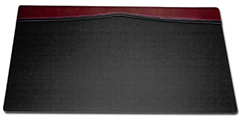 Dacasso Leather Top-Rail Desk Pad, Burgundy, 34 x 20-Inch