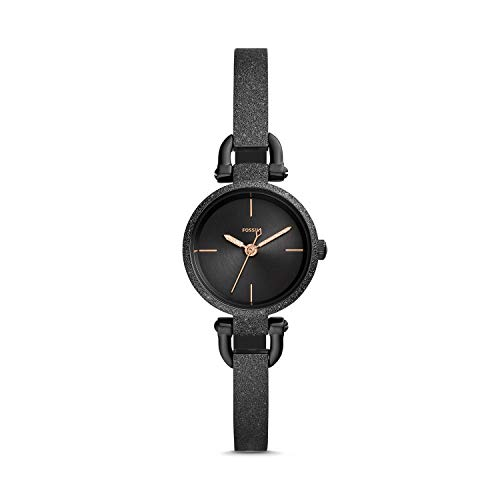Fossil Georgia Mini Three-Hand Black Stainless Steel Women's Watch ES4480