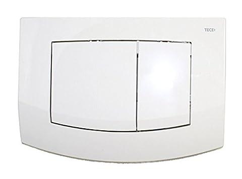 Tece Teceambia-Abdeckplatte mit Betätigung 2-Mengen-Spülung, weiß, 9240200 - Bed Hardware Parti