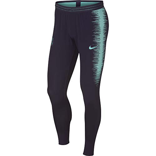 Nike Herren FC Barcelona VaporKnit Strike Drill Hose, Purple Dynasty/Hyper Turquoise, L -
