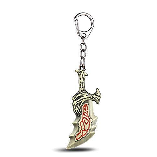 ar Keychain Olympus Kratos Metal Key Rings Blades of Chaos Kids Gift Chaveiro Key Chain Jewelry Ys10927 ()