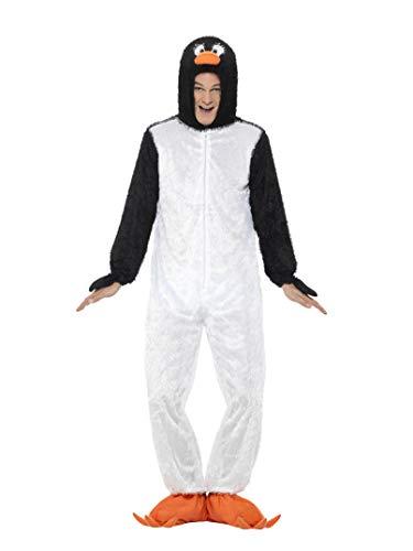 Smiffys, Unisex Pinguin Kostüm, Jumpsuit mit Kapuze, Größe: M, 31870