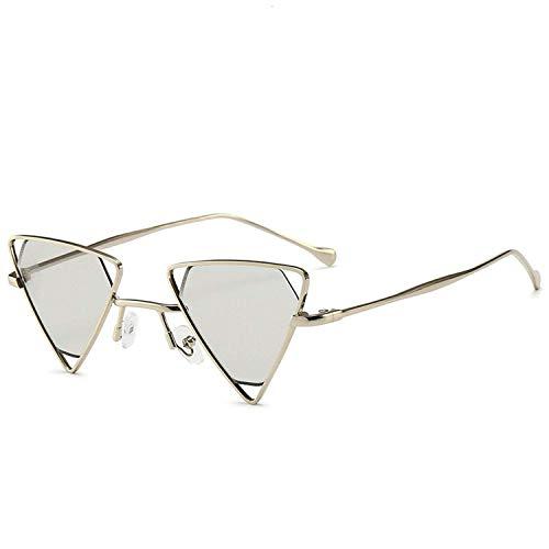 WERERT Sportbrille Sonnenbrillen Punk Sunglasses for Women Retro Metal Frame Black Yellow Pink Sunglasses Goggles