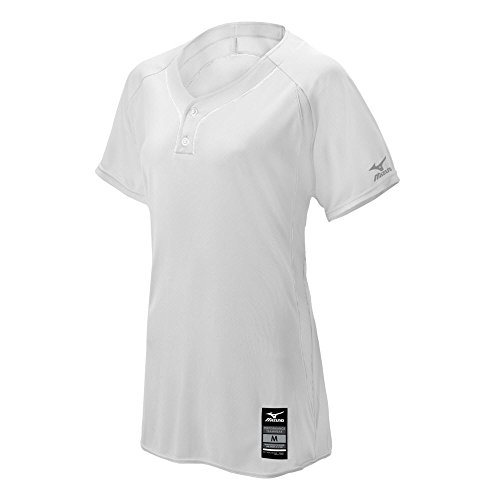Mizuno Damen Erwachsene Fastpitch Softball Elite 2Tasten Spiel Jersey, Weiß, 3X Große -