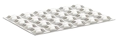 Home Xpert 24pièces tampon protection Clear carré, butée Tampon, meubles Tampon, butées, transparent, autocollant, 12,7x 12,7mm, hauteur: