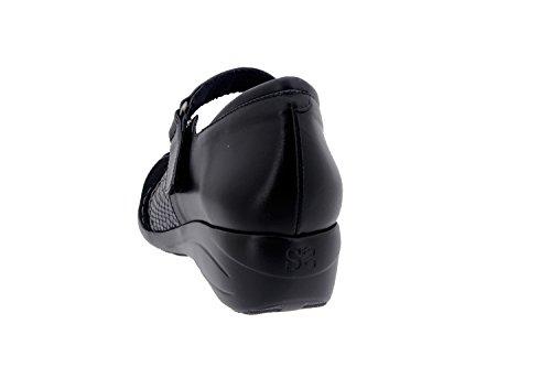 Scarpe donna comfort pelle Piesanto 1994 casual comfort larghezza speciale Negro