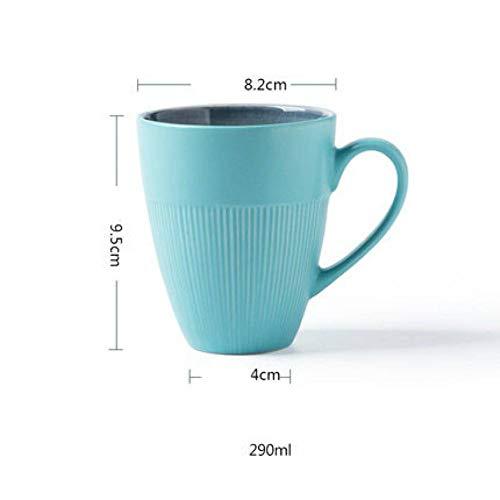 XIAMD Tasse Ceramic Drinkware Mug Blue White Ice Crackle Glaze Tea Water Mug Milk Coffee Mug Breakfast Drink Cup,Mug Blue - Crackle Glaze