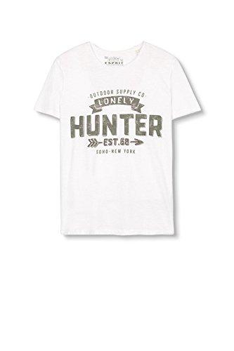 ESPRIT Herren T-Shirt 116ee2k021-Print Weiß (off White 110)