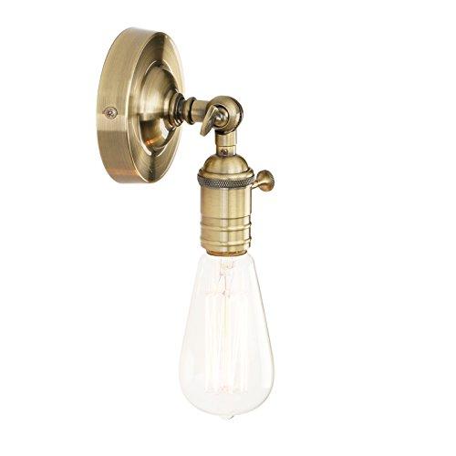 Pathson Wandbeleuchtung Wandleuchten Vintage Industrie Loft-Wandlampen Antik Deko Design Wandbeleuchtung (Bronze Farbe) - Bronze Vintage Wandleuchte