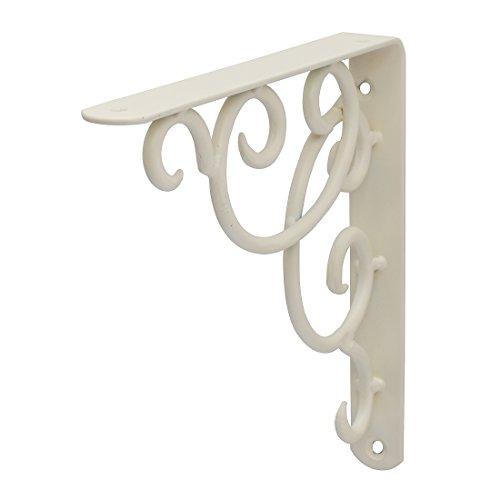 Duraline Curly Konsole Regalträger, Metall, Weiß, 24x26,5cm