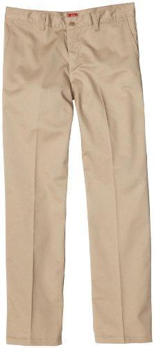 Dickies - - Kp5111 Mädchens Stretch Brustleistentasche Flare Pant Bottom (7 - 20), 18, Khaki (Flare Bottom Mädchen Pant)