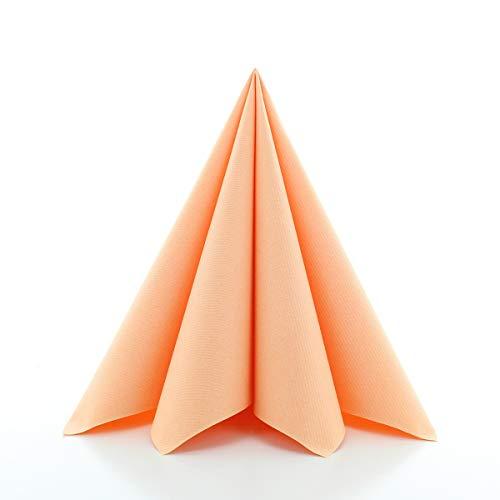 Sovie Home Linclass®Airlaid Servietten 40x40 cm   saugstark und reissfest   Aprikot   12 Stück