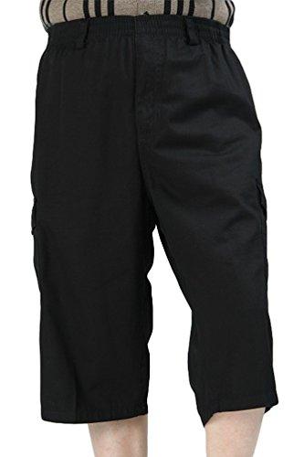 Heheja Herren Bermuda Cargo Shorts Männer Kurze Hosen 3 4 Lang Mit Taschen 5 6XL (Shorts Jean Abercrombie)
