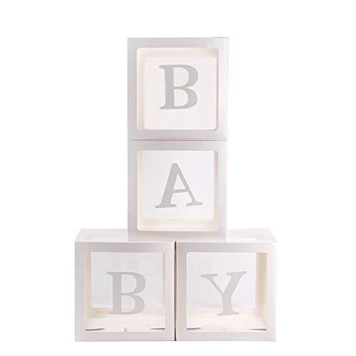 feeilty 4Pcs Ballon-Box Platz Transparent Ballon Schachteln Baby Shower Taufe-Geburtstags-Party-Dekor-Ballon-Entwurf