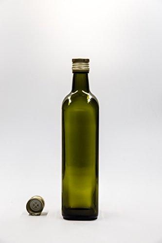 nr 1 pezzo art. Bottiglia Marasca Olio 750 ml vetro verde tappo (Verde 750ml Bottiglia)