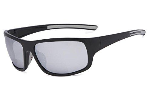Eyekepper Bifokale Sonnenbrille +2.50 Stärke Lesen Sonnenbrillen (Silber Spiegel)