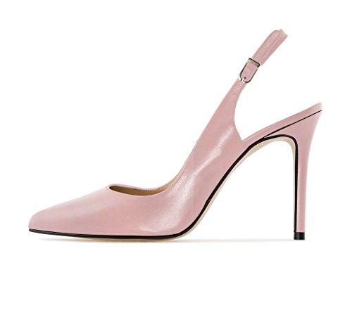 EDEFS Femme Escarpins Bouts Pointus Classiques Chaussures à Brides à Boucle à l'arrière BabyPink
