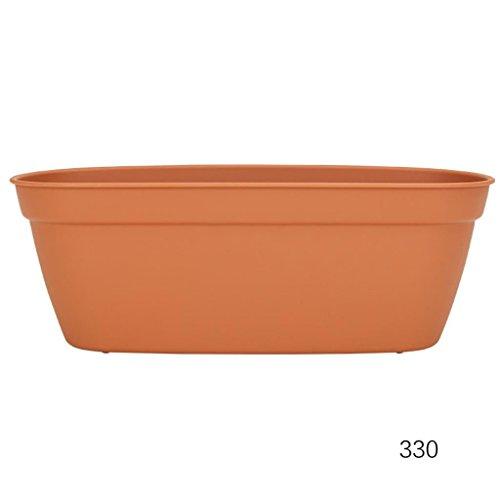 DELLT- Environnement - Friendly Plastic Thickening Imitation Céramique Résine longues - forme multi - Pots viande Pots petite fleur ( taille : 330 )