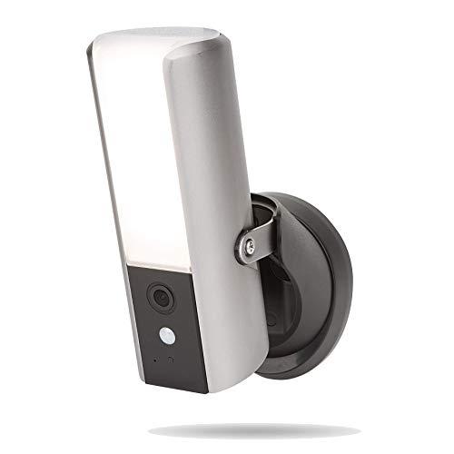 SecuFirst LCA230 - Intelligente Außenlampe mit Integrierten IP-Kamera - WiFi - Full HD 1080p - Bewegungserkennung - Energieeffizient 10 Watt - Bildspeicher bis zu 128 GB
