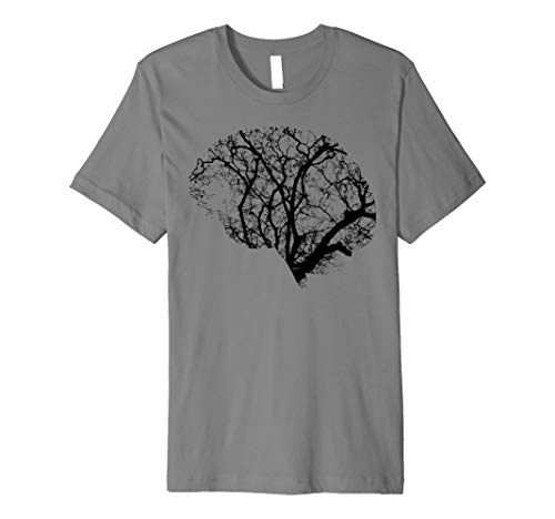 Head Brain Tree Mens Ladies Art Science Nature T-Shirt