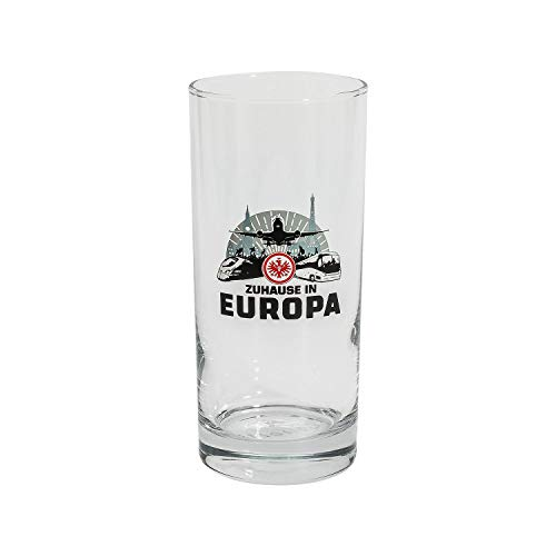 Eintracht Frankfurt Longdrinkglas, Wasserglas, Glas 2er-Set 0,3 l Zuhause in Europa SGE - Plus Lesezeichen I Love Frankfurt