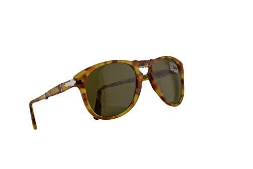 Persol 714 Folding Sonnenbrille Gelb Tortoise Mit Grünen Gläsern 52mm 10614E PO 0714 PO0714 PO714