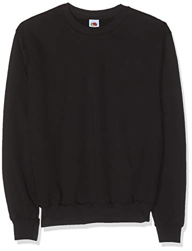 Fruit of the Loom Herren Sweatshirt 12200B, Gr. 56/58 (XL), Schwarz (36 schwarz) -