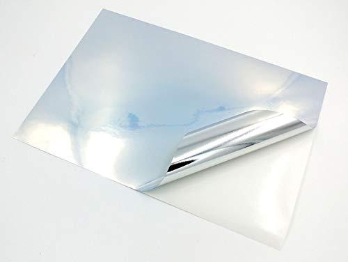 Klebefolie für Tintenstrahl- und Laserdrucker, A4, glänzend, glänzend, selbstklebend, hochwertig, Metallic-Perlglanz-Finish, hochauflösender Druck, 10 Stück