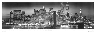 Empire Poster New York Manhattan pas de cadre