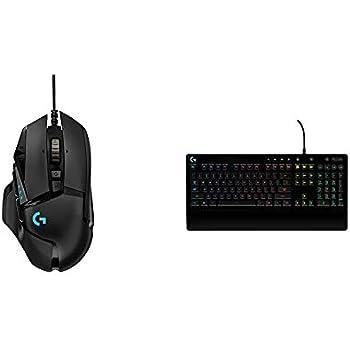 Logitech 502 Hero Gaming Mouse (Black) and Logitech Prodigy 213 Gaming Keyboard
