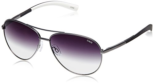 IDEE Aviator Sunglasses (IDS1814C2SG|57|Black ) image