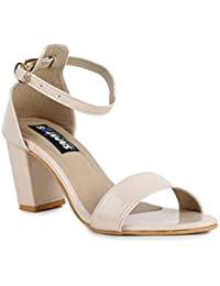 Sapatos Beige Block Heels
