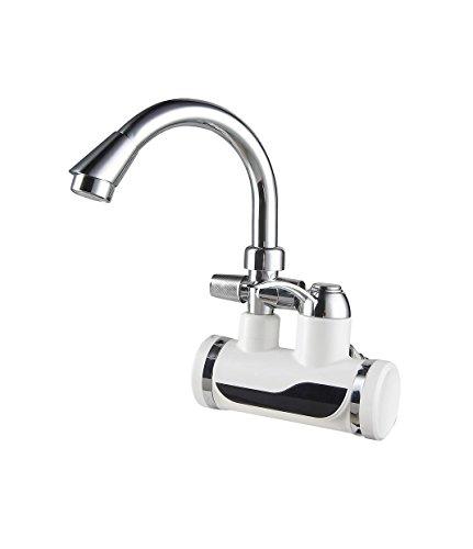Sofortige Heißwasser-Hahn Tankless Elektrischer Hahn-Küche-Hahn Doppelter heißer und kalter elektrischer Warmwasserbereiter Wasser-Heizung Unmittelbarer Warmwasserbereiter-Duscheheizung LED-Digitalanzeige , 4 (Wasser-heizung Tankless)
