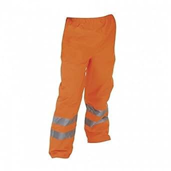 Yoko Hi-Vis Contractors Hose für Männer, Wasser abweisend (S) (Orange)