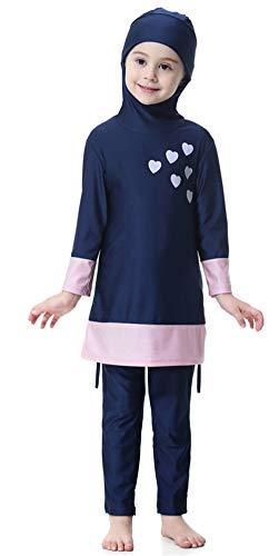 TianMai Mädchen Kinder Muslimische Bademode Islamische Schwimmanzug Badeanzug Burkini Muslim Swimwear (N2, 140cm) (Muslimische Mädchen)