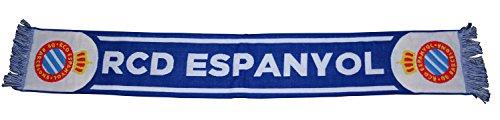 RCD Espanyol Bufesp Bufanda Telar, Azul / Blanco, 140 x 20 cm