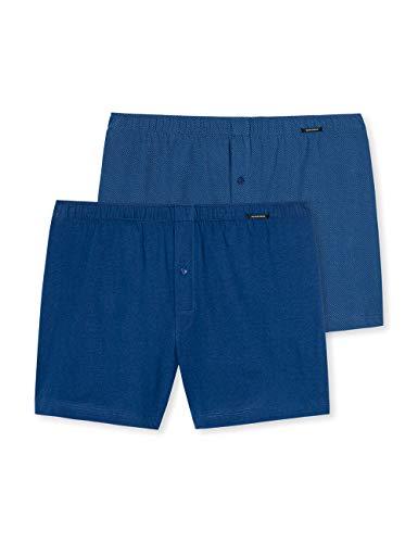 Schiesser Herren (2er Pack) Boxershorts, (Blau 800), L (2erPack)