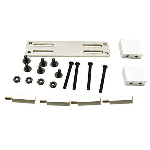 Fcostume Verbesserte Metall Servo Fixed Mount Bracket Kit Teile für WPL RC LKW Auto (Silber)