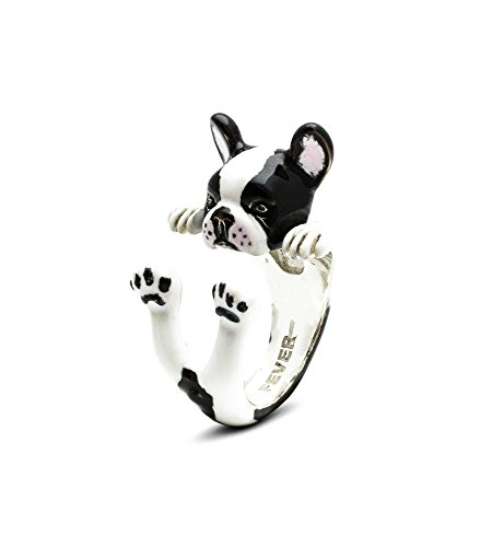 Dog Fever Anillo Custom Hug plata esmaltado French