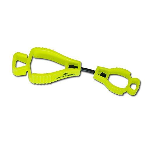 Tarp Clip neongelb mit Aufdruck Handschuhhalter für Schutzhandschuhe, Arbeitshandschuhe oder Taschenlampe